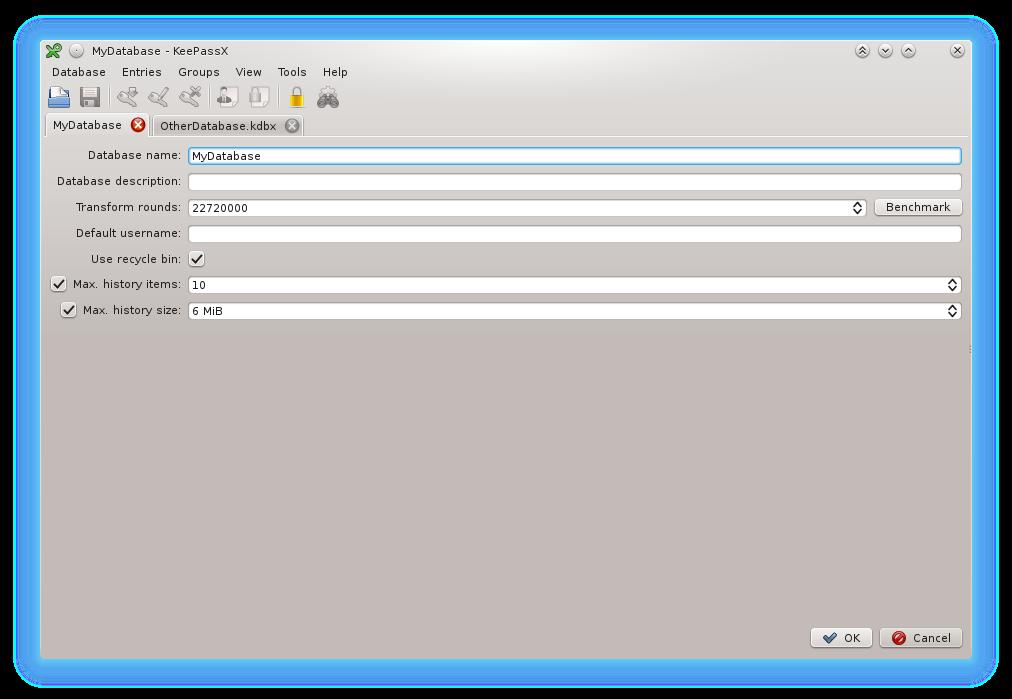 KeePassX screenshot
