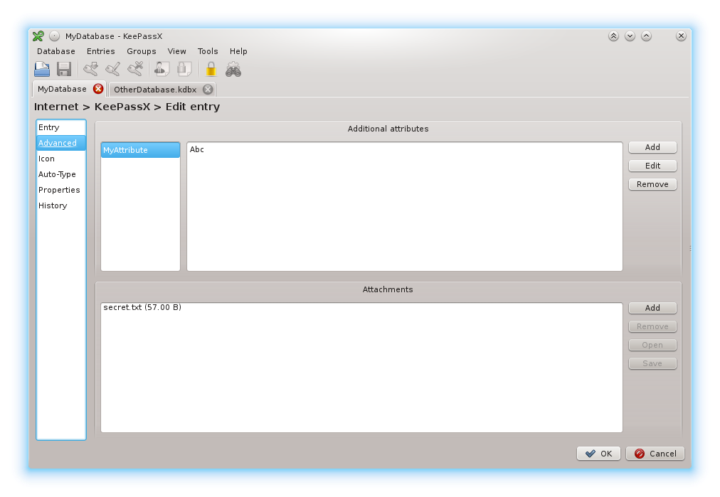 Full KeePassX screenshot